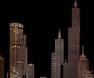 gold, dark, and city image