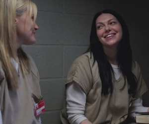 oitnb, laura prepon, and taylor schilling image