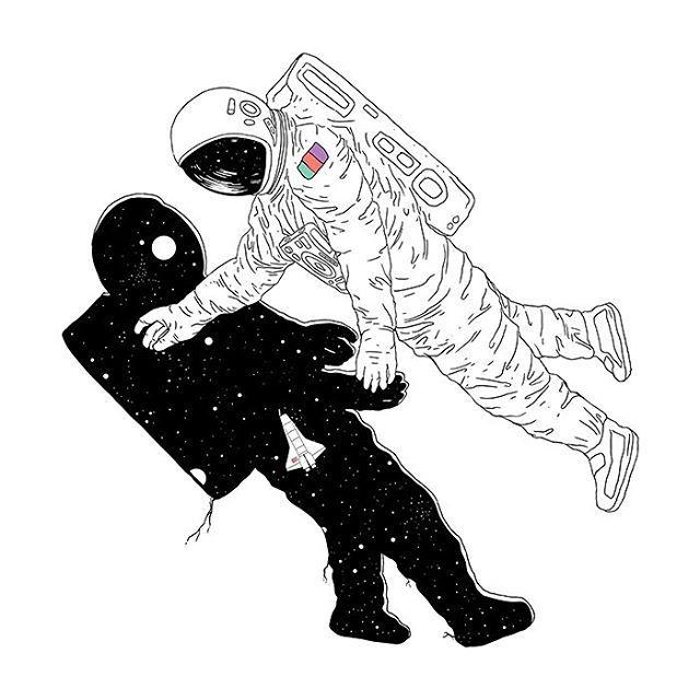 space, stars, and astronauta image