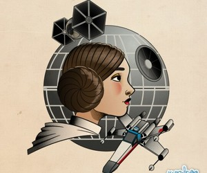 Princess Leia, star wars, and ❤ image