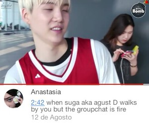 funny, agustd, and kpop image