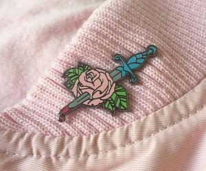 pink, rose, and grunge image