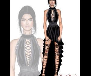 drawing, fashion drawing, and kendall jenner image