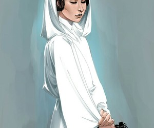 star wars, art, and carrie fisher image