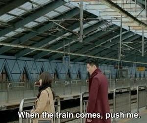 train, sad, and suicide image