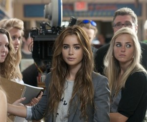 lily collins and girl image