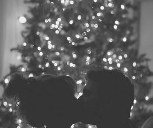love, christmas, and kiss image