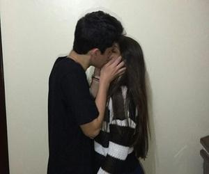 kiss, couple, and girl image