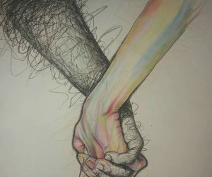 love, hands, and art image