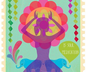 colorfull, poster, and meditation image