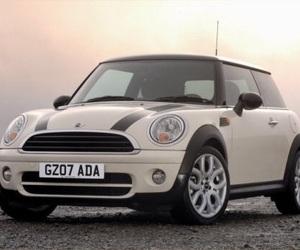 car, mini cooper, and white image