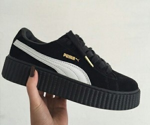 puma, black, and shoes image