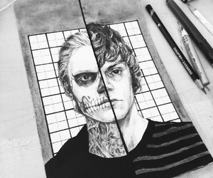 art, draw, and american horror story image