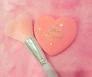 too faced, makeup, and heart image