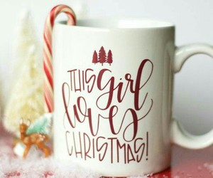 candy cane, christmas, and coffee image