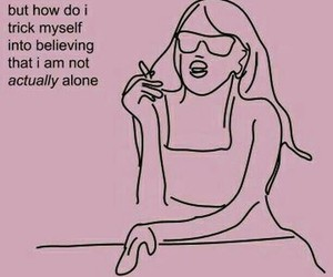 pink, quotes, and alone image