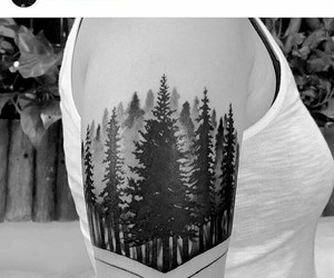ink, inked, and nature image