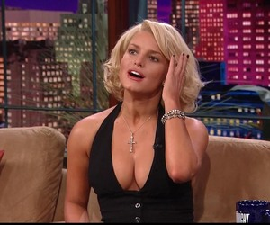actress, jessica simpson, and the tonight show image