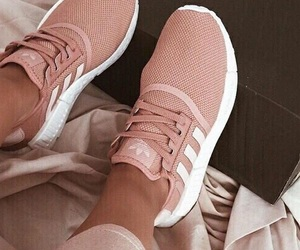 adidas, rose gold, and rose gold theme image