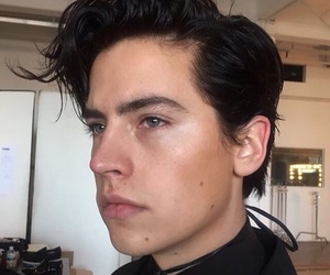 black hair, cole sprouse, and handsome image