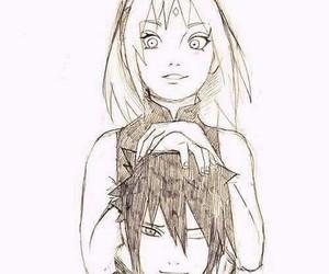 couple, sakura, and family image