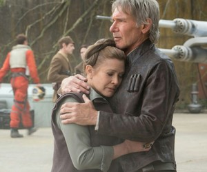 han solo, star wars, and carrie fisher image