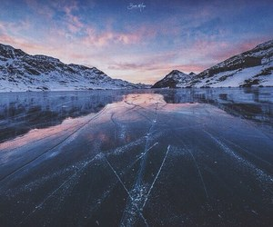 winter, ice, and sky image