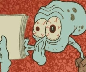 squidward, spongebob, and funny image