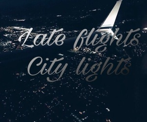 city lights, lyric, and Late image