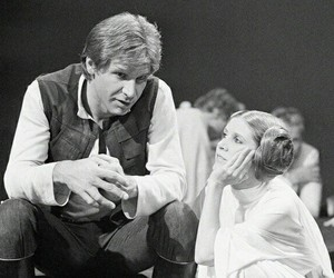carrie fisher and han solo image