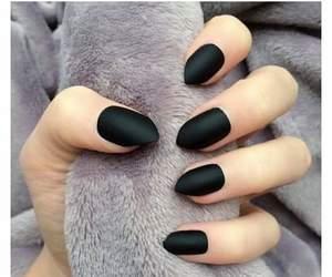 matte black sexy nails image