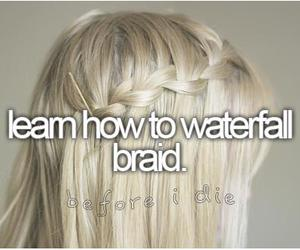 before i die, bucket list, and braid image