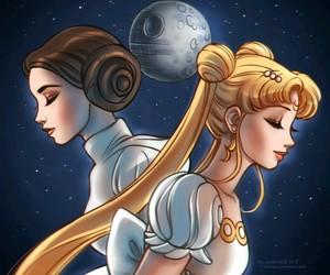 sailor moon and star wars image