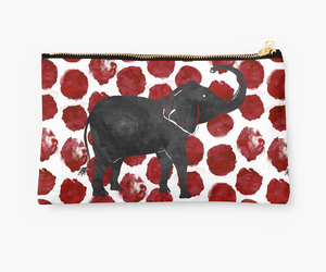 elephants, etsy, and pouches image