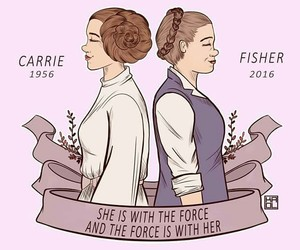 Princess Leia, star wars, and rip carrie fisher image