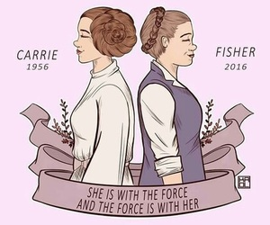 carrie fisher and starwars image