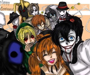 hoodie, jeff the killer, and splendorman image