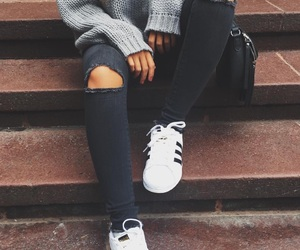 adidas, grey, and aesthetic image