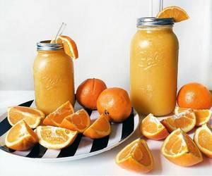 healthy, juice, and orange image