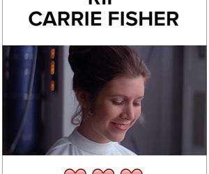 carrie, carrie fisher, and Princess Leia image