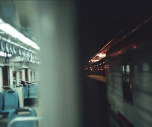 blue, subway, and travel image