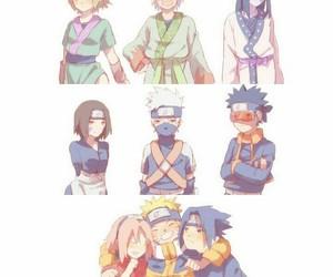 kakashi, naruto, and team 7 image