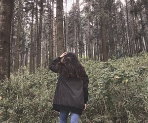 cold, girl, and nature image