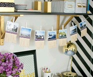 desk, home, and decor image