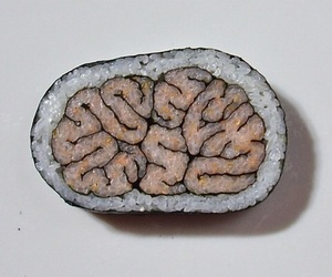 brain, sushi, and food image