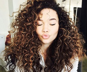 beautiful, curly, and makeup image