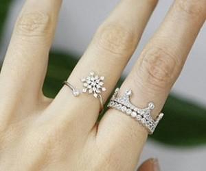 fashion, ring, and snowflake image