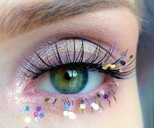 eye, eyes, and pink image