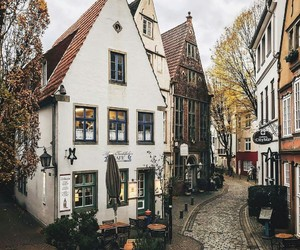 city, travel, and autumn image