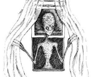 alien, creepy, and drawing image